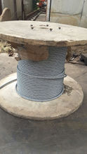 high tension wires, 9x7 non-rotating galvanized steel wire rope