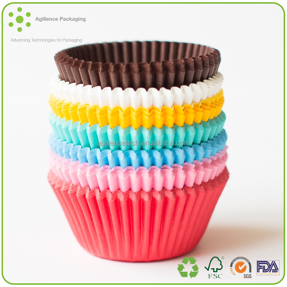 2015 Custom Fluted Greaseproof Paper Cupcake Cases Muffin Cases Cake Cup Case