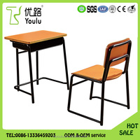 Durable Plywood Education furniture supplier student desk chair
