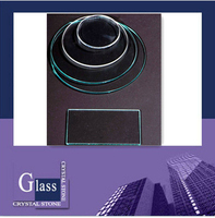 LED cover glass/LED lens/round glass tempered