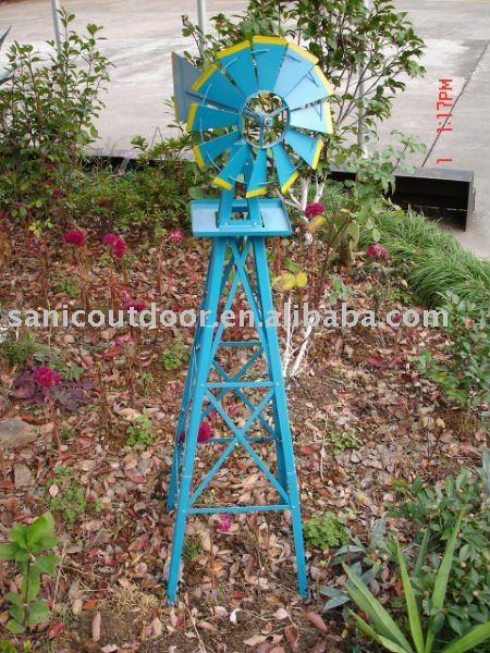 Jard n molino de viento molino de viento de metal for Molinos de viento para jardin