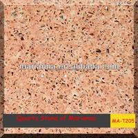 MA-T205 pink quartz stone kitchen countertops/floor/stairs in hotel/house