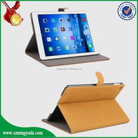 Smart cover patner Transparent back PU leather case for Ipad Air 2