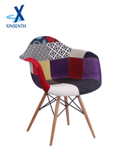 comfortable upholstered Chair with Wooden Legs for Living Room