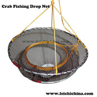 High quality and good price foldable crab fishing drop nets