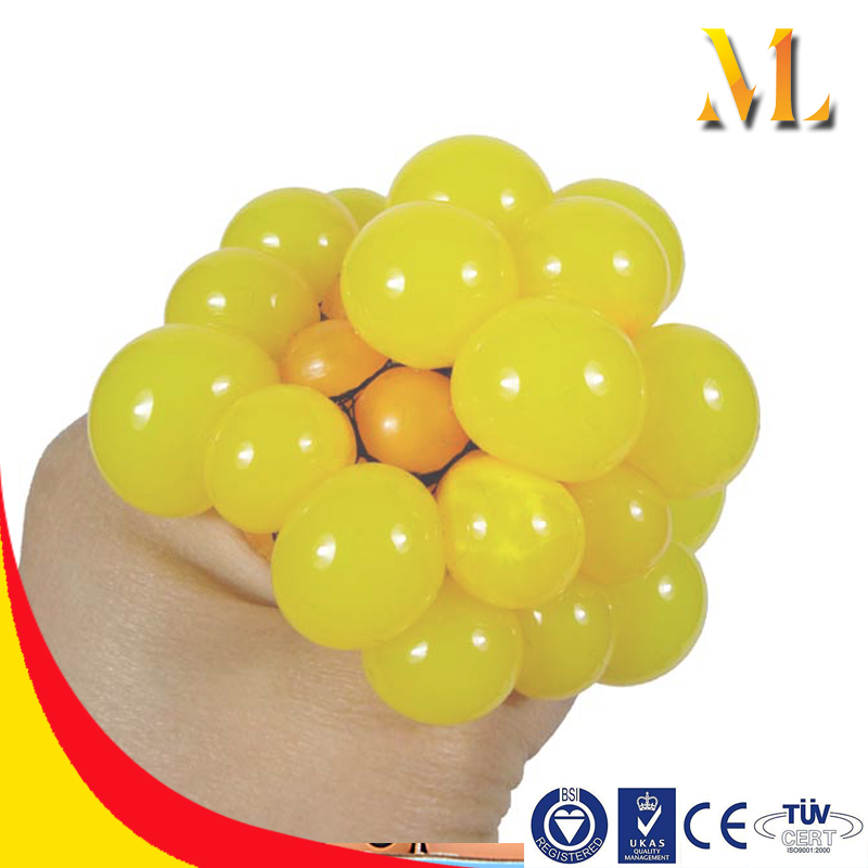 MTB15 Cheap soft Mesh bag grapes stress ball