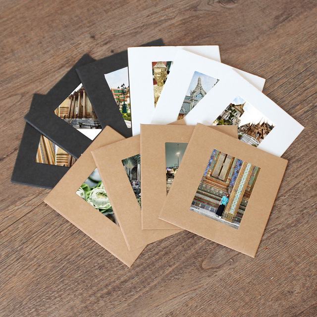 10stks 3inch Kraft Paperclip Fotowand Kleur Vintage Frame Foto DIY Baby Fotolijst Wedding Fotolijst Muur Hier krijg je een touw