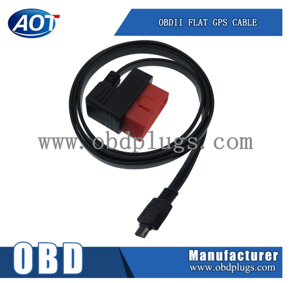 Flat Cable Type OBD2 to USB Cable for Diagnostic Tool, 60cm