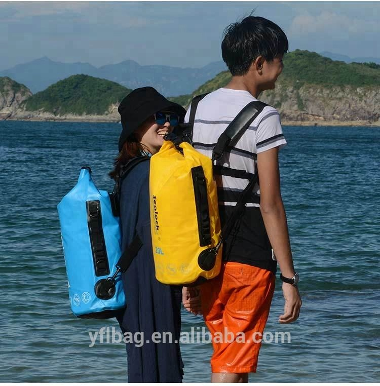 2018 Yellow 20L outdoor water sports dry bag for kayak,rafting,swim
