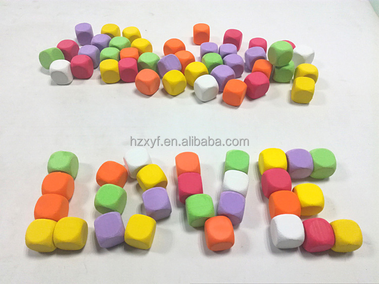 Large size wholesale colored soft toy dices for kids