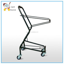 Japanese style Two Baskets Supermarket Shopping Cart,Basket Cart,Shopping Trolley