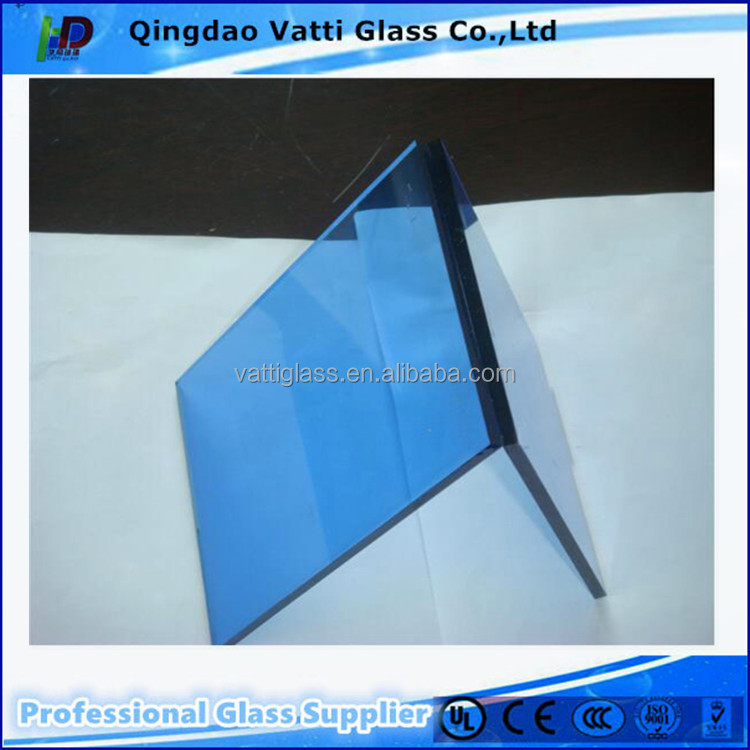 High transmission decorative Blue Tinted Float Glass manufacturer