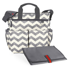Hot selling high quality Signature Diaper Bag with Portable Changing Mat Chevron