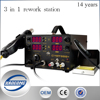 YAOGONG Hot 909D+ Multifunction SMD/SMT rework station 3 in 1 LED digital display with supply power