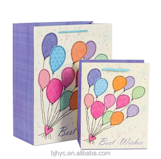 Purple making candle paper gift bag picture