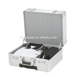 Portable Aluminum Flight Carrying Case Travel Pilot Briefcase for Books and Document