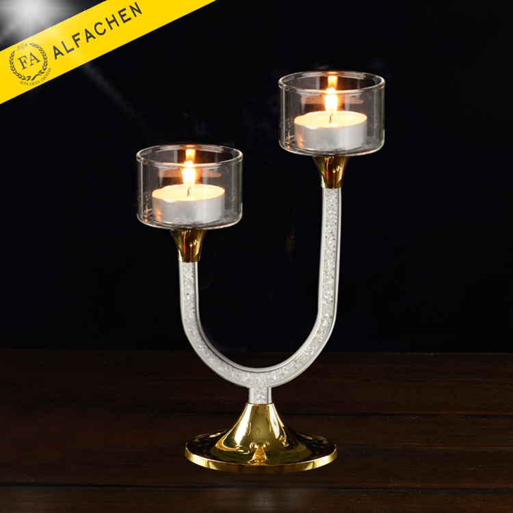 Wholesale Votive Glass Candle Cup Crystal Beads Wedding Candle Holders