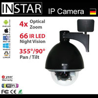 2way Audio, 4x Optical Zoom, Wifi IP Camera with Pan&Tilt, Nightvision,