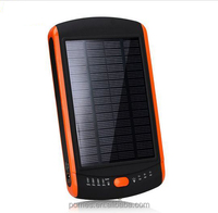 2014 New Products Hot sale Factory 11200mAh Solar Power Bank with ROHS, CE, FCC approved