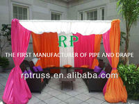 Pipe adjuster and drape for wedding/event/trade show, portable pipe and drape