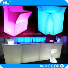 latest design high brightness LED Plastic bar table / LED clear and shine furniture
