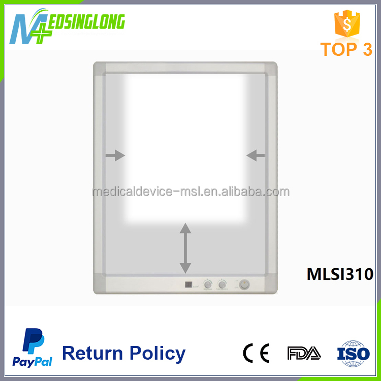 High quality adjustable brightness LED direct light medical film viewer MSLI310