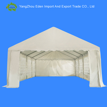 Heavy-duty Large Outdoor Carport Garage Wedding Party Event Tent Patio Gazebo Canopy with Removable Sidewall, White