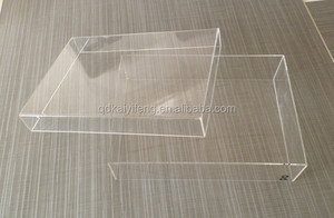 Custom transparent gift box clear PET plastic packaging box