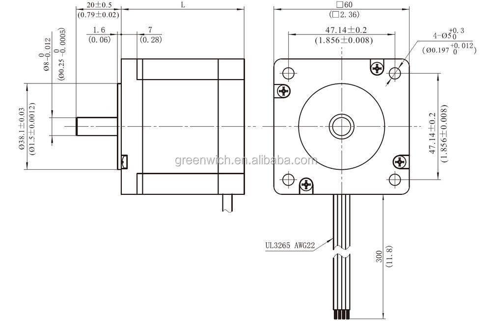 nema24 hybrid stepper motor frame size 60mm  view hybrid step motor 2 2 n m  gwiec product