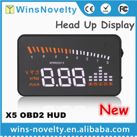 Best selling car accessory in 2016 HUD speed limiter vehicle mounted obd2 hud for car