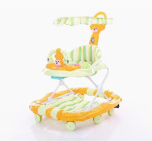 CE approved high quality use as horse rocking walkers cheap price 360 degree rotating baby walker with music and light