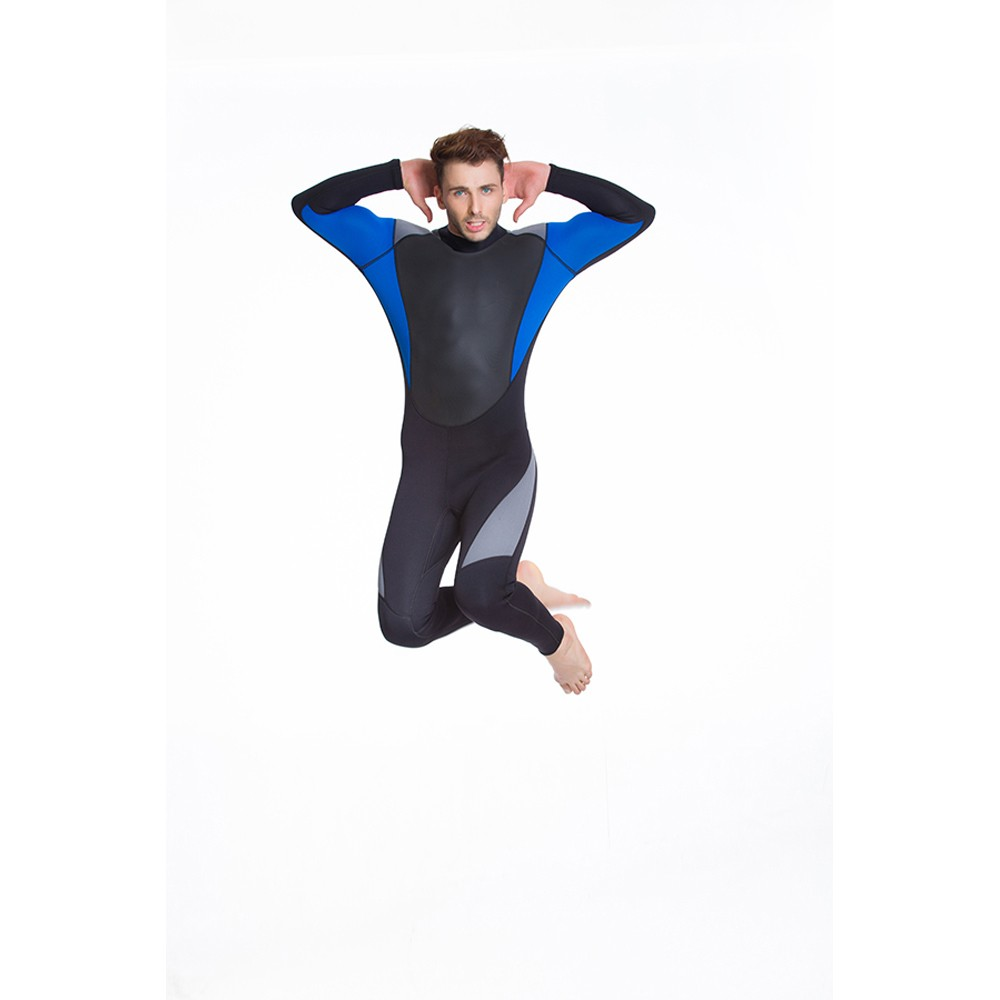 One piece long sleeve swimwear men diving wetsuit for snorkeling
