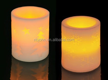 Flameless LED Wax Candle with christmas motives