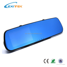 4.3 Inch Double Cameras 140 Degree Car Rear View Mirror DVR with 1080P Front Camera+480P Rear View Camera