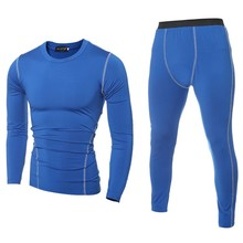 YBSP001 Slim Fit Gym T Shirt and Gym Legging 2pcs Sport Wear for Men
