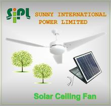 Vent kits solar panel powered air conditioning fan 3 blade outdoor 60 inch ceiling fan with adjustable solar panel