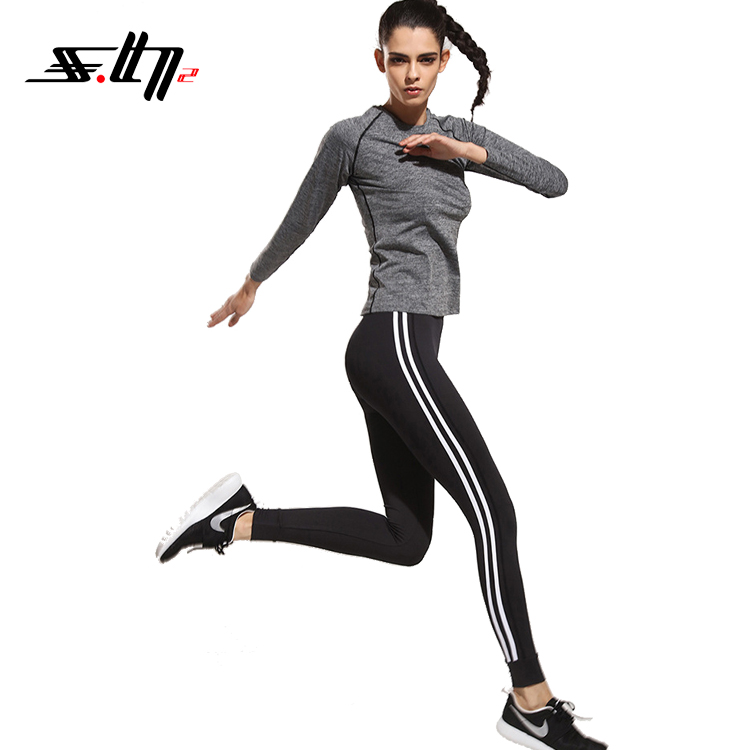 2018 popular pants made by polyester fabric custom dry fit women sport leggings