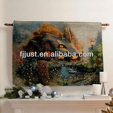 Large wall jacquard tapestry with led
