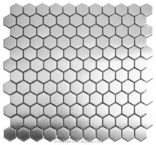 1 Inch Hexagonal Shiny Stainless Steel Mosaic Tile