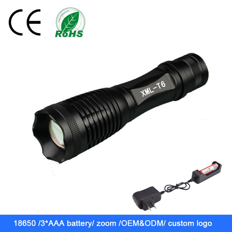 XML <strong>U2</strong> 850LM 18650 Battery Best <strong>LED</strong> Flashlight police flashlight