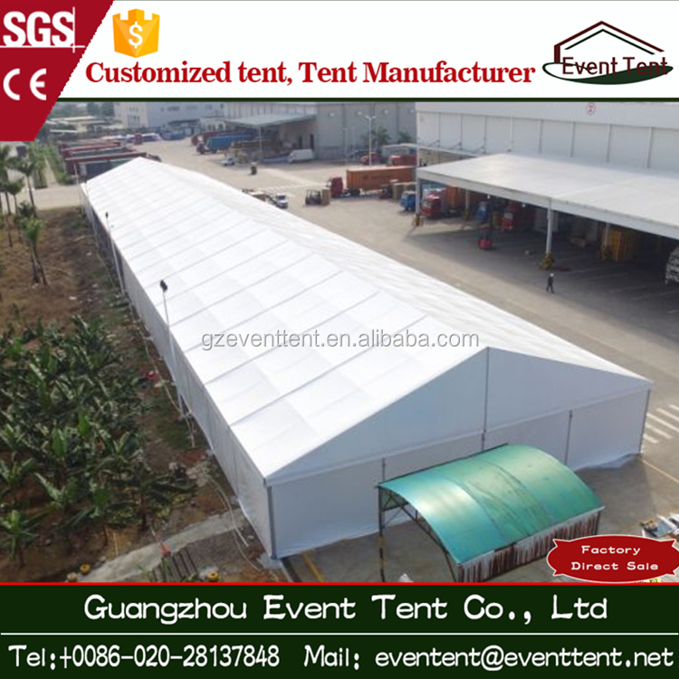 Guangzhou Factory hot sale PVC warehouse tent with roller shutter door