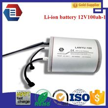New li-ion frame 36v 9ah tube battery lifepo4 12v 100ah deep cycle battery /LYLIBR12V100B653