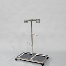 Wire Cage Stand With Feeder For Parrot Bird C04