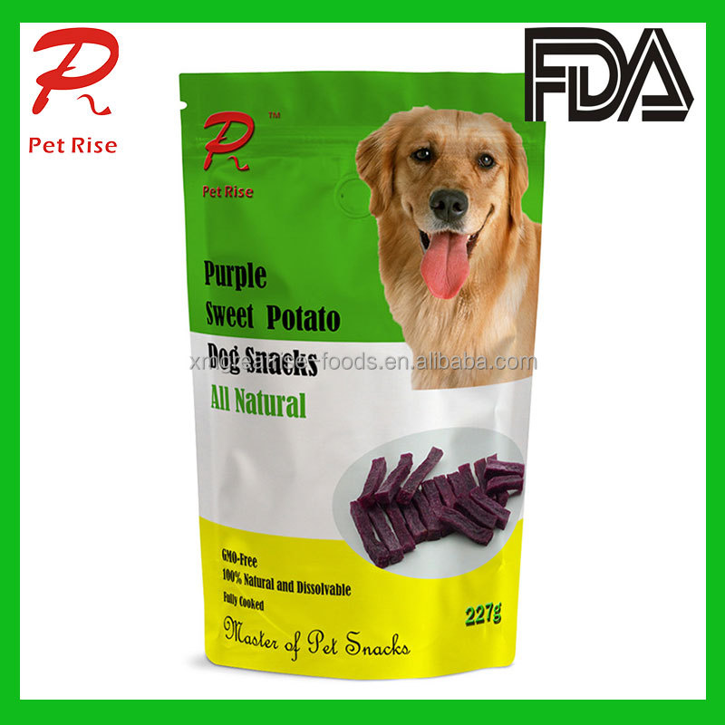 Air Dried- Purple Sweet Potato Strip as Dry Dog Chews and Dog Treats