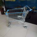 Wanzl style shopping trolleys with four wheels