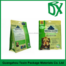 OEM/ODM custom made eight side seal stand up printed dog food packaging bags from china factory