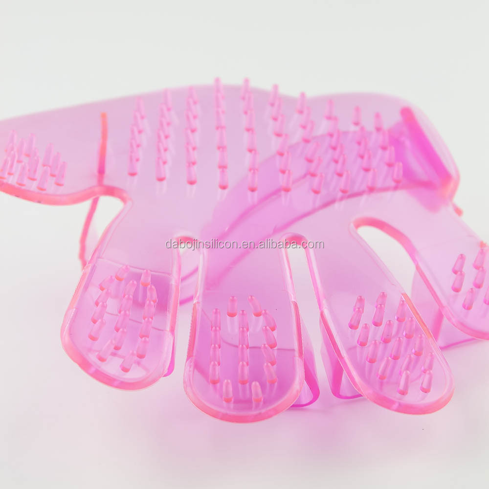 2016 Direct Sale Silicone House Pet Toys Dog Grooming Massage Gloves