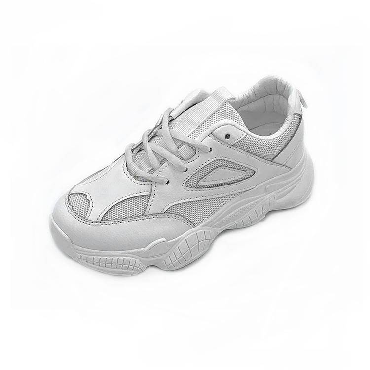 New white mesh casual sports handmade lady shoes with thick-sole outdoor women shoes on sales