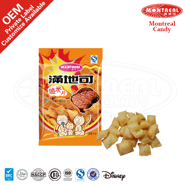Steak Flavour Of Halal Snacks Crisp Rice Chip