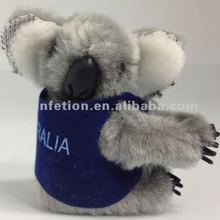 Promotional Grey Color Koala Clip On <strong>Toy</strong> With Vest